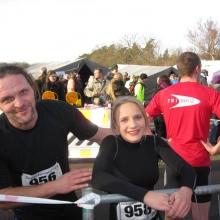 Delia und Arno Rombach nach dem 3km Lauf.